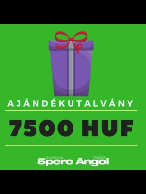 7500 Ft-os Ajándékutalvány